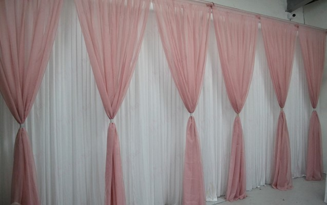 Pink Grecian Backdrop